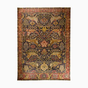 Large Indian Hand-Knotted Wool Rug In the Style of Bidjar