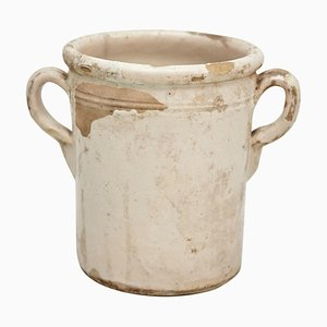 Beige Lacquered Spanish Ceramic