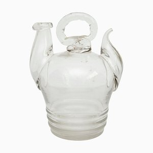 19th Century Spanish Blown Glass Pitcher