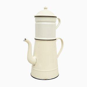 Vintage French Enamel Sculptural Decorative Coffee Maker, 1920s