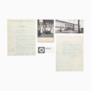 Contract by Mathieu Matégot for Artimeta, 1953