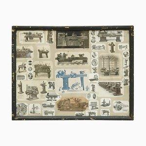 Französische Maschinen Collage Komposition, frühes 20. Jh