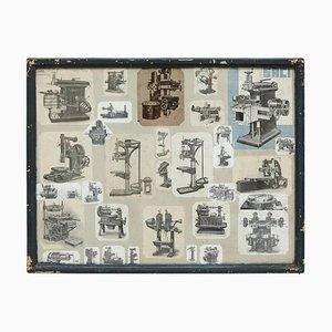 Composizione di collage di macchine, Francia, inizio XX secolo