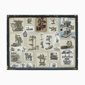 Early 20th Century French Machines Collage Composition