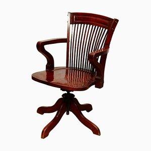 Wooden Swivel Chair, 1940s