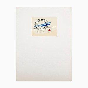 Serigrafía Luigi Veronesi, Arte abstracto minimalista, 1976