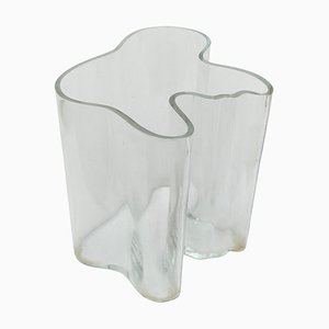 Cuenco alto de vidrio de Alvar Aalto para Artek, años 60