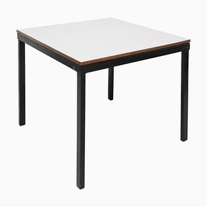 Metal, Wood and Formica Bridge Table by Charlotte Perriand for Cansado, 1950s