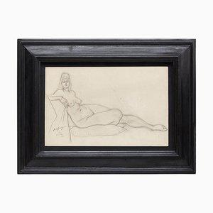 Brassai Woman Nude Bleistiftzeichnung, 1944