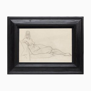 Brassai Woman Nude Pencil Drawing, 1944
