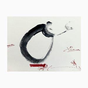 Acquaforte firmata Antoni Tàpies, 1976