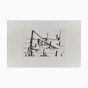 Abstrakte Radierung, Holland, 1980er