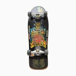 Bemaltes Vintage Santa Cruz Skateboard, 1989