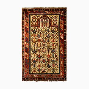 Antique Caucasian Hand-Knotted Wool Rug, Dagestan, 1880s
