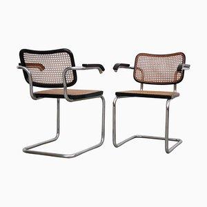 B64 Cesca Stühle von Marcel Breuer für Gavina, 1960er, 2er Set