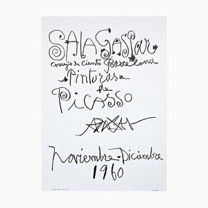 Original Picasso Lithografie Poster für Painting Exhibition, 1960