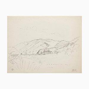 Dibujo puntillista firmado a mano de Dora Maar, años 60