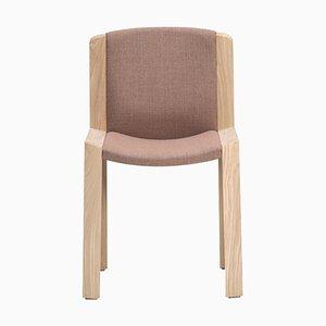 300 Stuhl aus Holz und Kvadrat Stoff von Joe Colombo für Hille