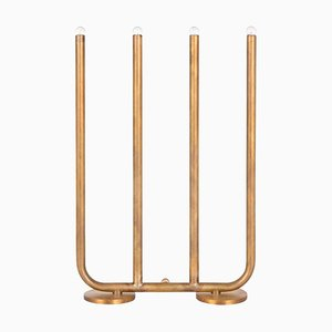 December Raw Brass Table Lamp by Sabina Grubbeson for Konsthantverk