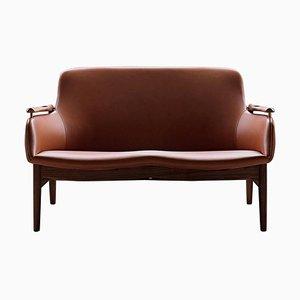 Model 53 Leather Sofa by Finn Juhl