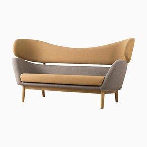 Baker Sofa in Wood and Fabric by Finn Juhl