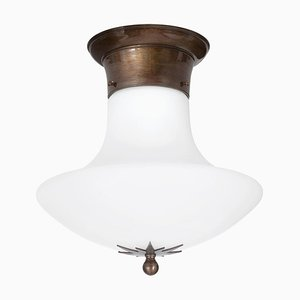 Stoby Oxide D30 Opal Glass Ceiling Lamp from Konsthantverk