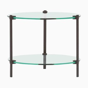Pioneer T79 Steel Matte & Clear Glass Side Table by Peter Ghyczy