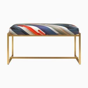 Urban Grace Gb03 Urban Bench in Brass Matt & Cubist Fabric by Peter Ghyczy