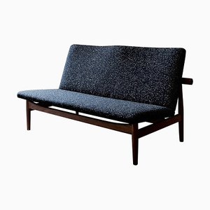 Japan Series 2-Seater Sofa in Wood and Raf Simons Fabric by Finn Juhl