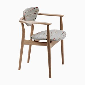 Model 109 Chair in Wood and Paul Smith Fabric by Finn Juhl