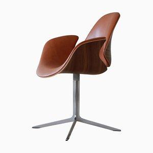 Kt 8013 Leder Beistellstuhl von Salto und Thomas Sigsgaard