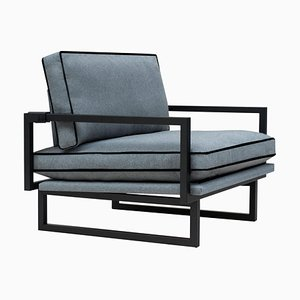 Urban Brad Gp01 Armchair in Grey Blue Fabric by Peter Ghyczy