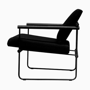 Gp05 Safari Audrey Armchair in Black Fabric by Peter Ghyczy