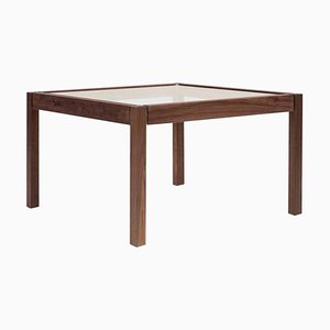 T81 Aluminium & Oak Side Table by Peter Ghyczy