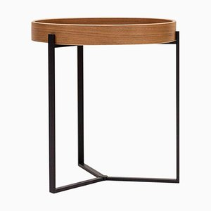 Pivot T82 Ristretto or Walnut Side Table by Peter Ghyczy