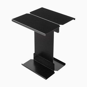Mesa de centro escultural de metal negro de Adolfo Abejon