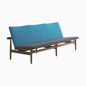 Japan Series Sofa in Wood and Fabric by Finn Juhl