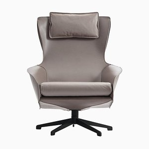 Cab Lounge Chair in Tubular Steel and Leather Upholstery by Mario Bellini for Cassina
