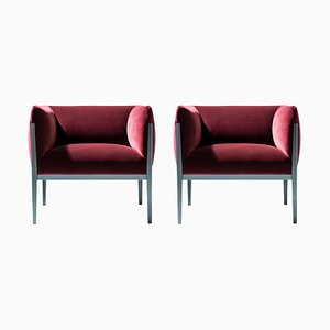 Cotone Armchairs in Aluminum and Fabric by Ronan & Erwan Bouroullec for Cassina, Set of 2