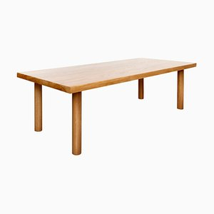 Large Solid Ash Dining Table by Le Corbusier for Dada Est.