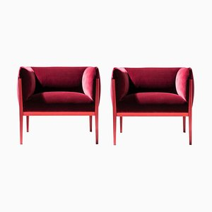 Cotone Armchairs in Aluminum and Fabric by Ronan & Erwan Bourroullec for Cassina, Set of 2