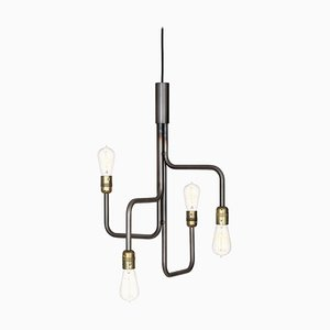 Black Oxide Steel Strapatz Ceiling Lamp by Sabina Grubbeson for Konsthantverk