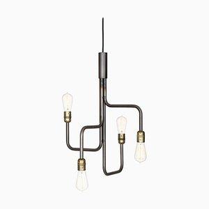 Schwarze Strapatz Deckenlampe aus oxidiertem Stahl von Sabina Grubbeson für Konsthantverk