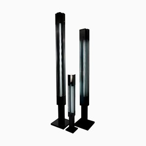 Black Signal Column Floor Lamp by Serge Mouille