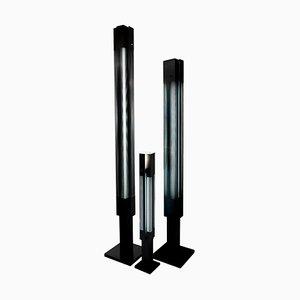 Schwarze Signal Column Stehlampe von Serge Mouille