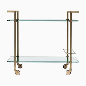 Tea Trolley Pioneer T63s Limited Edition Brass / Tinted Ral Glass by Peter Ghyczy
