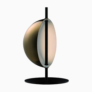 Brass Table Lamp Superluna by Victor Vaisilev for Oluce