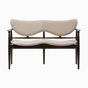 48 Sofa Bench in Wood and Leather by Finn Juhl