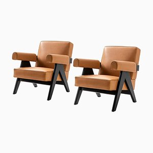 053 Capitol Complex Armchairs by Pierre Jeanneret for Cassina, Set of 2