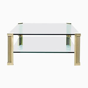 Table Pioneer T14d Brass / Glass by Peter Ghyczy